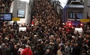 Cohue en Gare de Lyon au premier jour de la grève de la SNCF pour le mois d'avril 2018