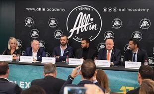 La présentation de la nouvelle académie de tennis, à Bercy, le 29 octobre 2019.