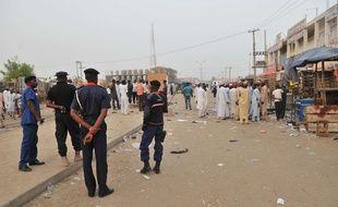Vue du marché de Kano au Nigeria, théâtre d'une attaque-suicide le 18 novembre 2015.