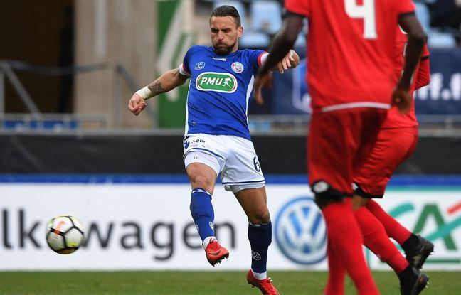 Anthony Gonçalves, toujours déterminé, contre Dijon en Coupe de France.