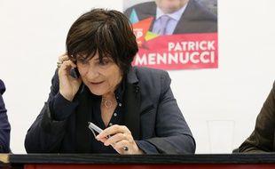 Marie-Arlette Carlotti, ministre déléguée aux Personnes âgées et candidate dans le 3e secteur de Marseille, le 15 mars 2014.