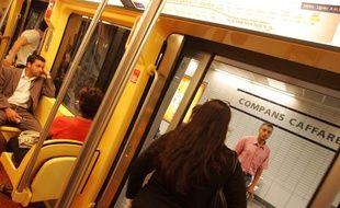 Dans le métro de Toulouse sur le trajet de la Ligne B.