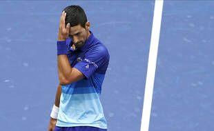 Novak Djokovic a perdu en finale de l'US Open contre Daniil Medvedev, à New York le 12 septembre 2021.