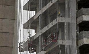 Bâtiment commercial en construction à Sao Paulo, au Brésil, le 7 mars 2014