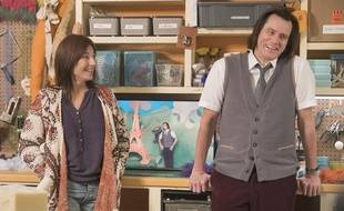 Catherine Keener et Jim Carrey dans «Kidding».