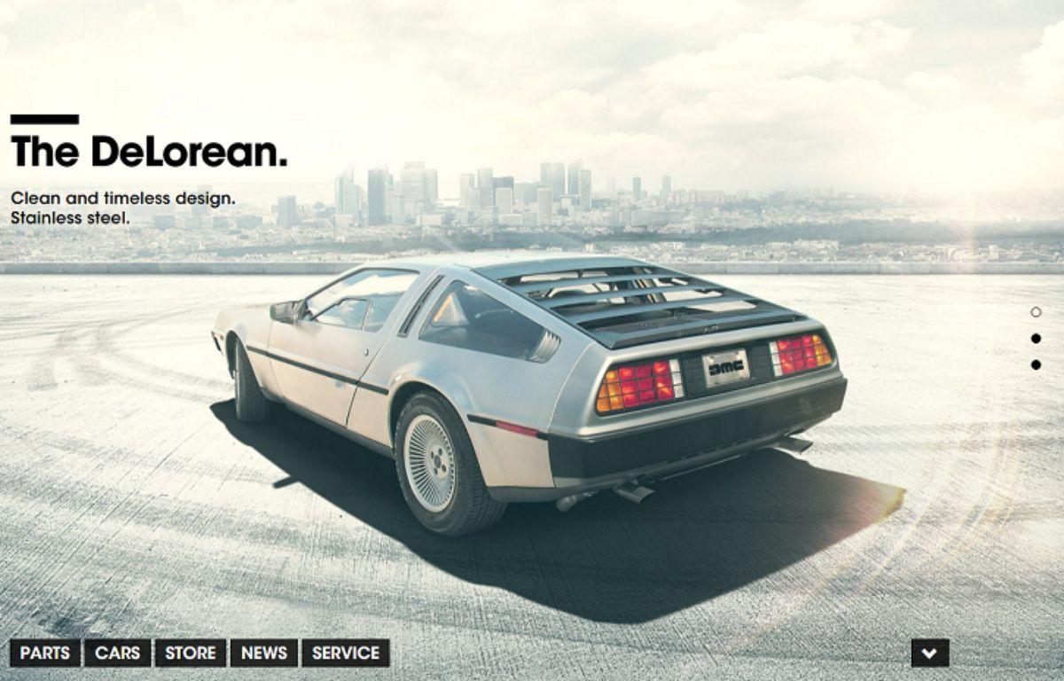 Capture d'écran du site du constructeur Delorean Motor Company. – DR