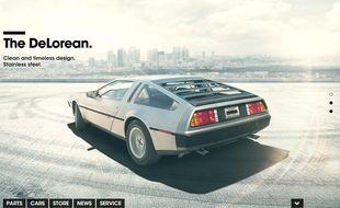 Capture d'écran du site du constructeur Delorean Motor Company.