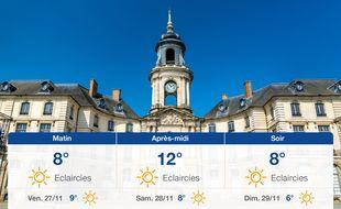 Météo Rennes: Prévisions du jeudi 26 novembre 2020