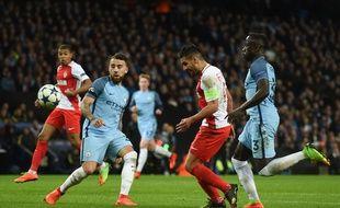 Radamel Falcao marque contre Manchester City le 21 février 2017.