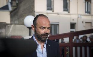 Edouard Philippe lors de son vote au Havre ce dimanche matin.