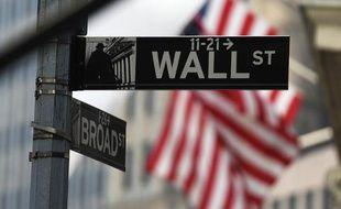 Wall Street où se trouve le siège de la Bourse de New York
