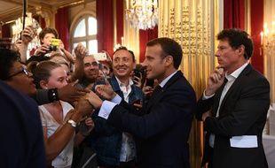 Emmanuel Macron lors des Journées du patrimoine 2018