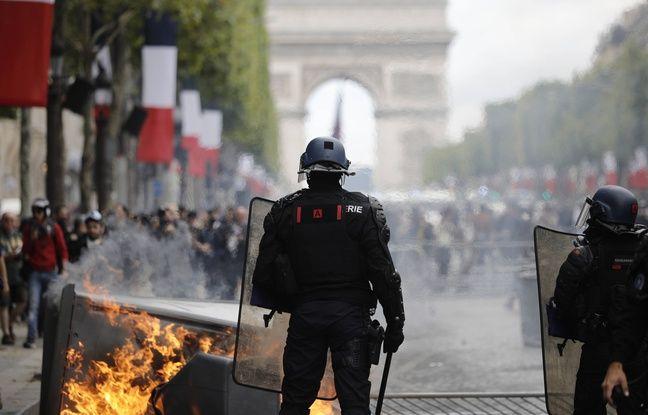 14-Juillet: Tensions sur les Champs-Elysées occupées par des «gilets jaunes»