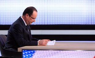 François Hollande, le 28 mars 2013 sur le plateau de France 2.