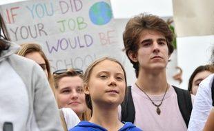 Greta Thunberg devant la Maison Blanche pour une manifestation lançant plusieurs semaines de mobilisation sur le climat aux Etats-Unis et à l'ONU.