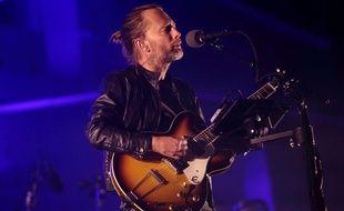 Thom Yorke le chanteur de Radiohead sur scène en 2013.