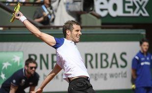 Richard Gasquet contre Nick Kyrgios à Roland-Garros le 27 mai 2016.
