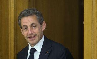 Nicolas Sarkozy, le 27 mai 2014 à Madrid, en Espagne (AP Photo/Paul White)