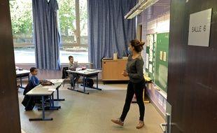 Rentrée des classes en petit comité à l'école Lalo-Clément, à Lille.