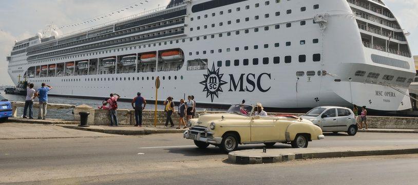 Le bateau MSC Opéra a râclé un quai à Venise, le 2 juin 2019.