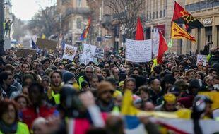 """A Toulouse, lors de l'acte 12 des """"gilets jaunes""""."""