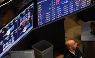 Un trader à la Bourse de New York (Photo illustration)