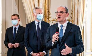 Le Premier ministre Jean Castex, avec le ministre de l'Economie Bruno Le Maire