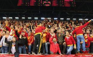Les ultrAslan, groupe de supporters de Galatasaray.