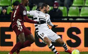 Morgan Amalfitano face au Messin Jonathan Rivierez, le 9 décembre 2017.