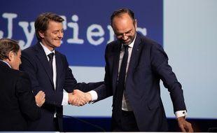 Edouard Philippe avec François Baroin, président de l'AMF.