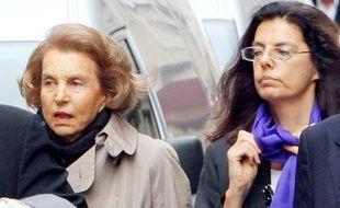 Liliane Bettencourt et sa filleFrançoise, le 6 juin 2007 à Paris.