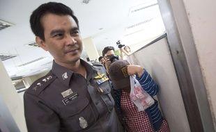 Paitoon Haabunmee, une mère porteuse interrogée dans le cadre de l'enquête sur l'«usine à bébés» mise sur pied par un Japonais, le 25 août 2014, à Bangkok, en Thaïlande.
