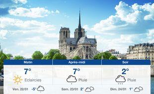 Météo Paris: Prévisions du jeudi 21 janvier 2021