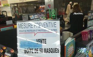 La vente des masques de protections a fait polémique dans un magasin Auchan à Avallon.