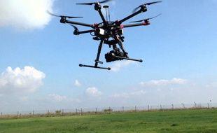 La société Drone Alsace va filmer le marathon de l'Eurodistrict, le 26 octobre 2014.