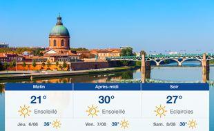 Météo Toulouse: Prévisions du mercredi 5 août 2020