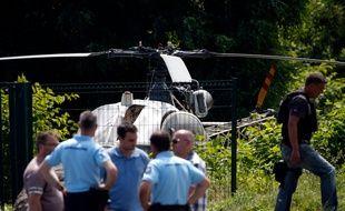 L'hélicoptère abandonné par Redoine Faïd.