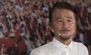 Shih Ming-teh, militant taïwanais des droits de l'homme, donne une conférence de presse pour annoncer sa candidature à l'élection présidentielle, le 21 mai 2015 à Taipei