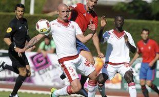 Les Girondins de Bordeaux lors de leur dernier match amical face à l'Osasuna Pampelune, disputé le 6 août 2016 à Saint-Jean de Luz.