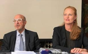 Louis-Dominique Laugier, colistier, et Violette Spillebout, tête de liste de «Faire respirer Lille».