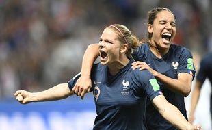 Eugénie Le Sommer a inscrit le but de la victoire des Bleues contre la Norvège.