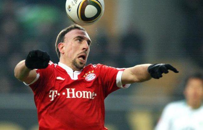 Le milieu de terrain du Bayern de Munich Franck Ribéry lors du match de la Bundesligue opposant son équipe au VfL Bochum, le 6 février 2010.