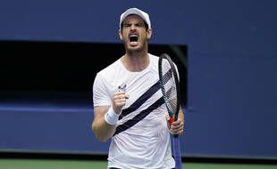 Andy Murray après sa victoire face à Yoshihito Nishioka, à l'US Open le 1er septembre 2020.