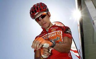 Le coureur espagnol Igor Anton, lors du Tour d'Espagne, le 10 septembre 2010.