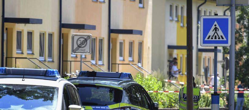 La police allemande est intervenue à Espelkamp, en Allemagne, le jeudi 17 juin 2021 où deux personnes ont été abattues.