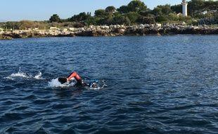 Rémi Camus est passé au large du Cap d'Antibes, début septembre.
