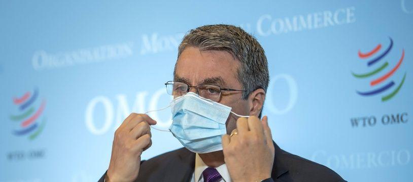 Le directeur général de l'OMC, Roberto Azevedo, à Genève le 23 juillet 2020.
