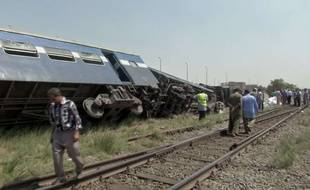 Les accidents de train sont récurrents en Egypte. En septembre 2016, un train (photo) avait déraillé à 50km au sud du Caire. Cinq personnes avaient été tuées.