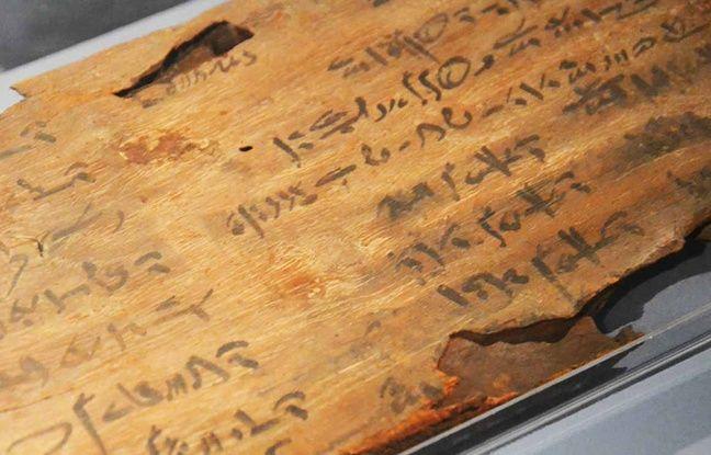 Le cahier d'exercices d'un apprenti scribe.