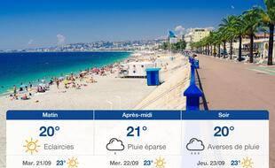 Météo Nice: Prévisions du lundi 20 septembre 2021